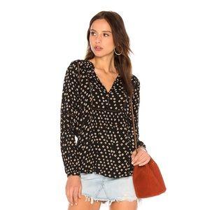 AMUSE SOCIETY chateau woven print boho blouse top
